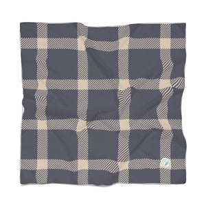 Holiday Blue Plaid Scarf