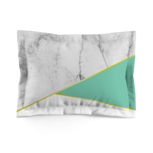Mint & Marble Microfiber Pillow Sham