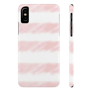 Pink Watercolor Stripes Case Mate Slim Phone Cases