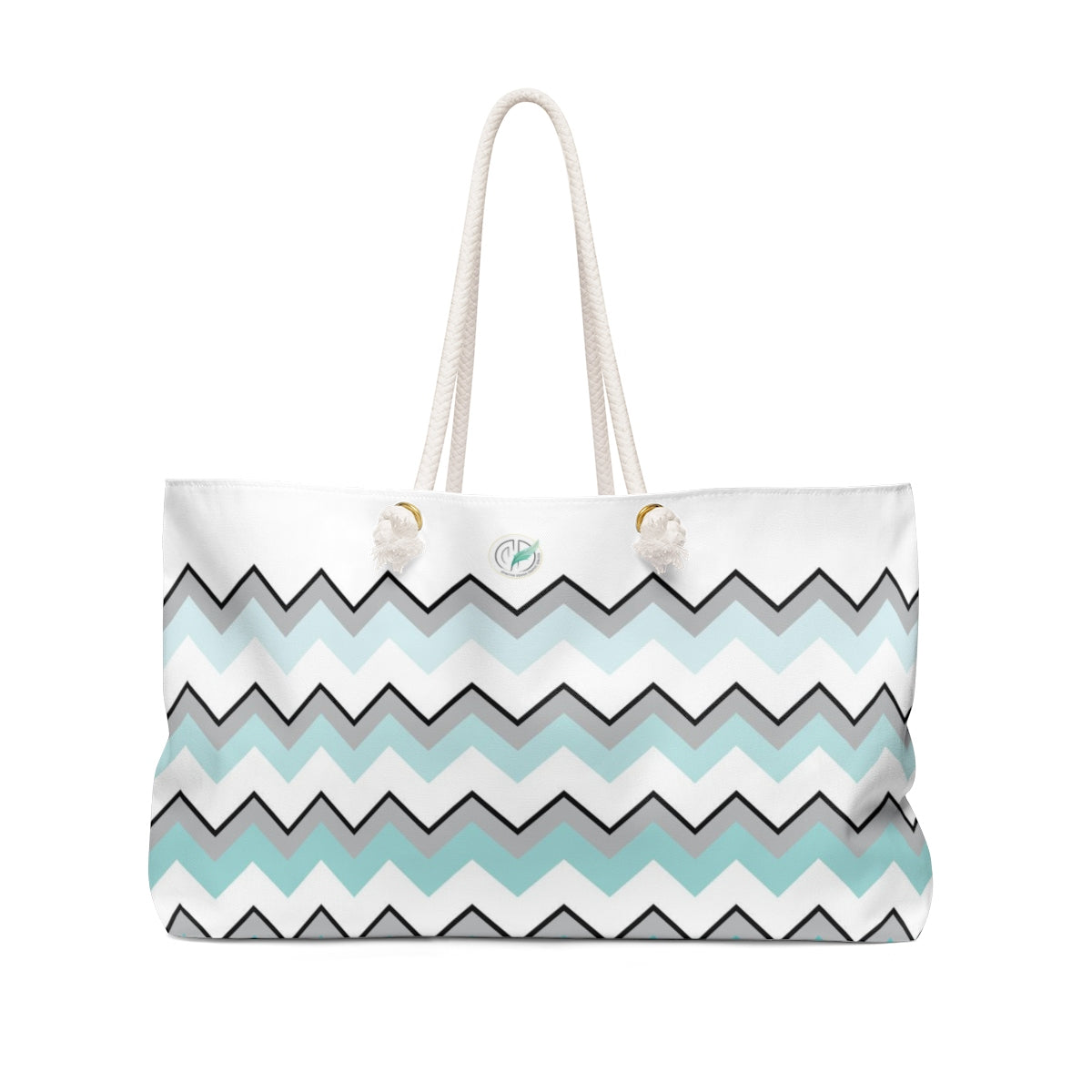 Copy of Ombre Teal Chevron Weekender Bag