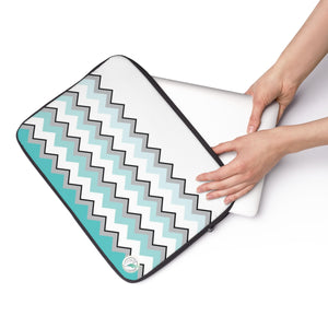 Ombre Teal Chevron Laptop Sleeve