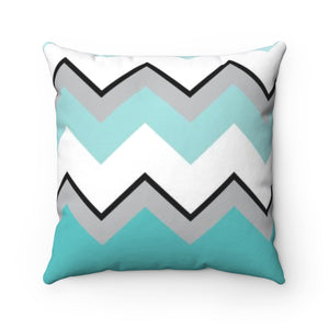 Ombre Teal Chevron Square Pillow Case
