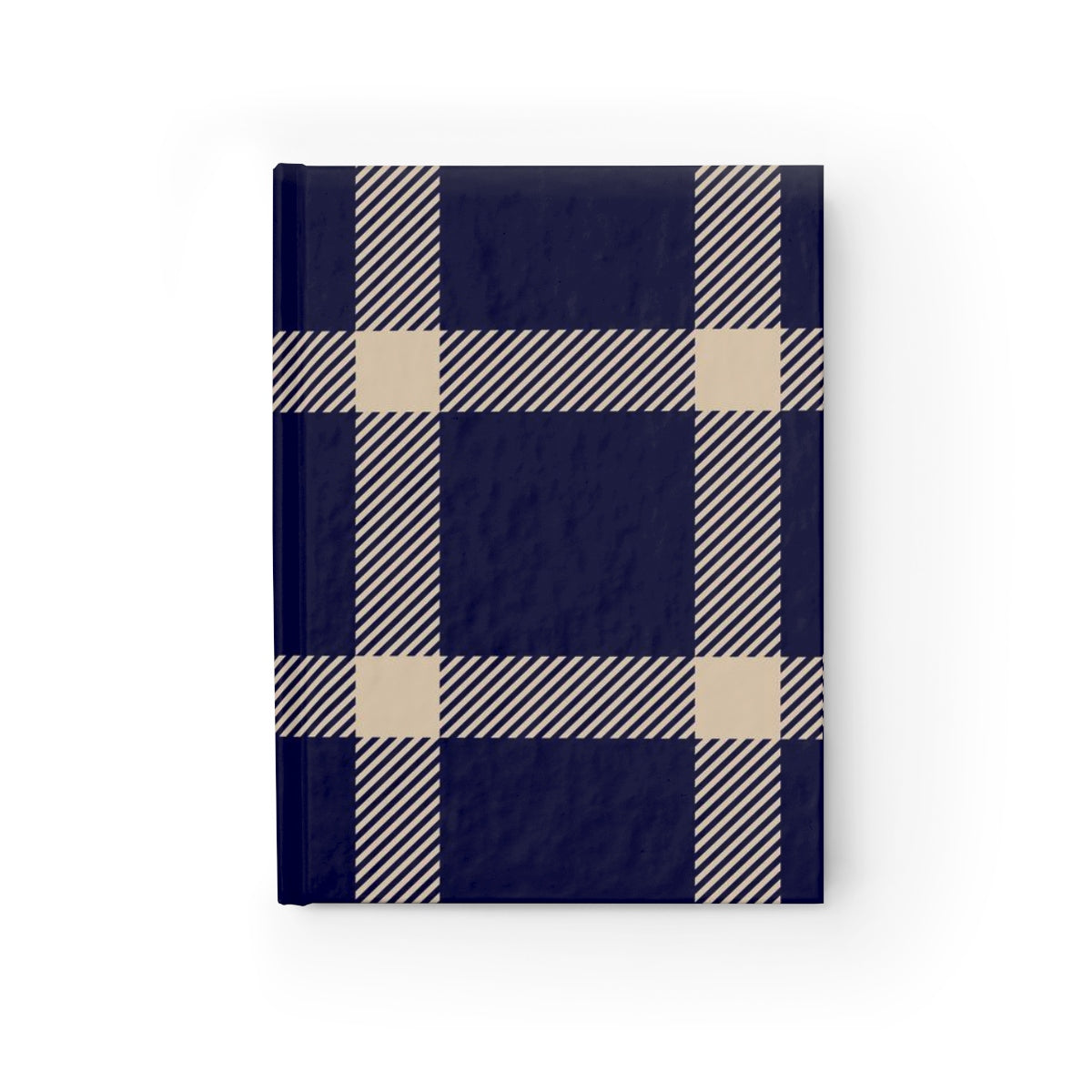 Holiday Blue Plaid Journal - Ruled Line
