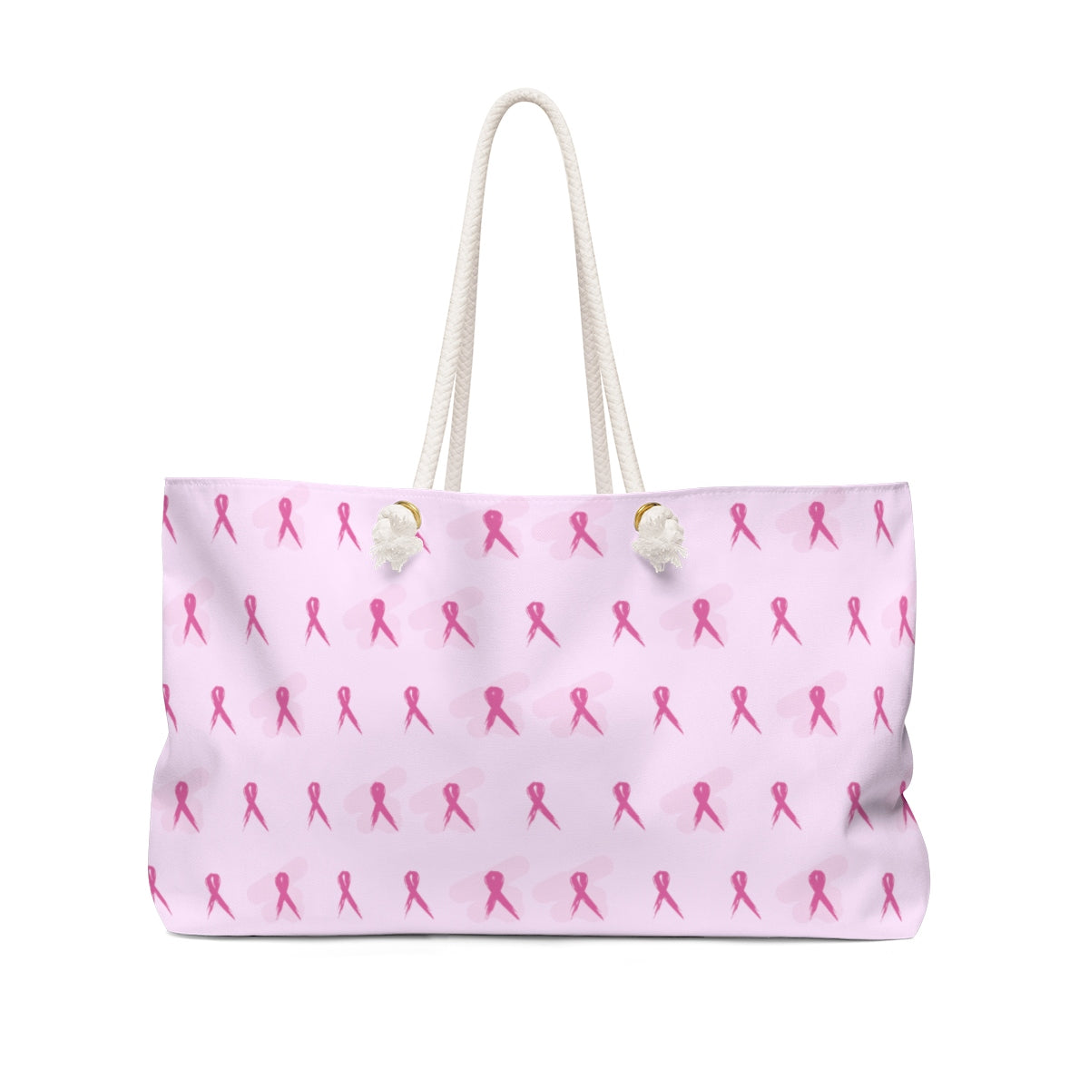 Pink Breast Cancer Awareness Ribbons Weekender Bag