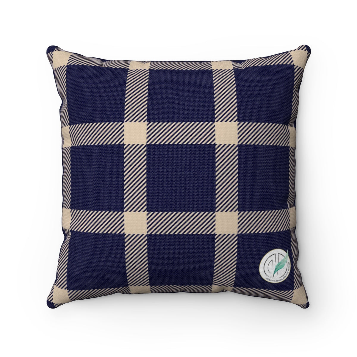 Holiday Blue Plaid Square Pillow Case