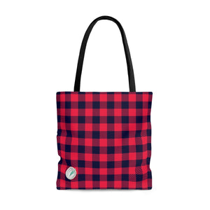 Holiday Plaid Tote Bag
