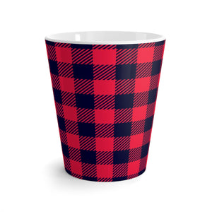 Holiday Plaid Latte mug