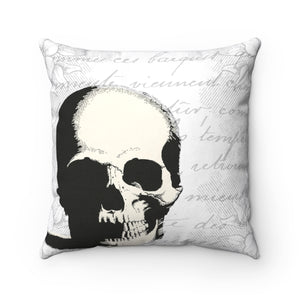 Trick or Treat Skull Spun Polyester Square Pillow Case