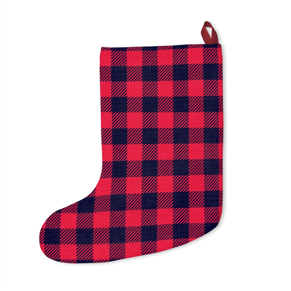 Holiday Mittens Plaid Stocking
