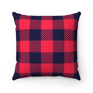 Holiday Plaid Square Pillow Case