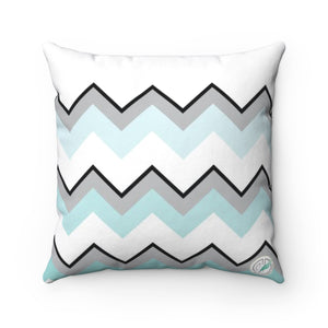 Ombre Teal Chevron Square Pillow