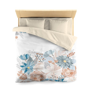 Natural Blooms Microfiber Duvet Cover