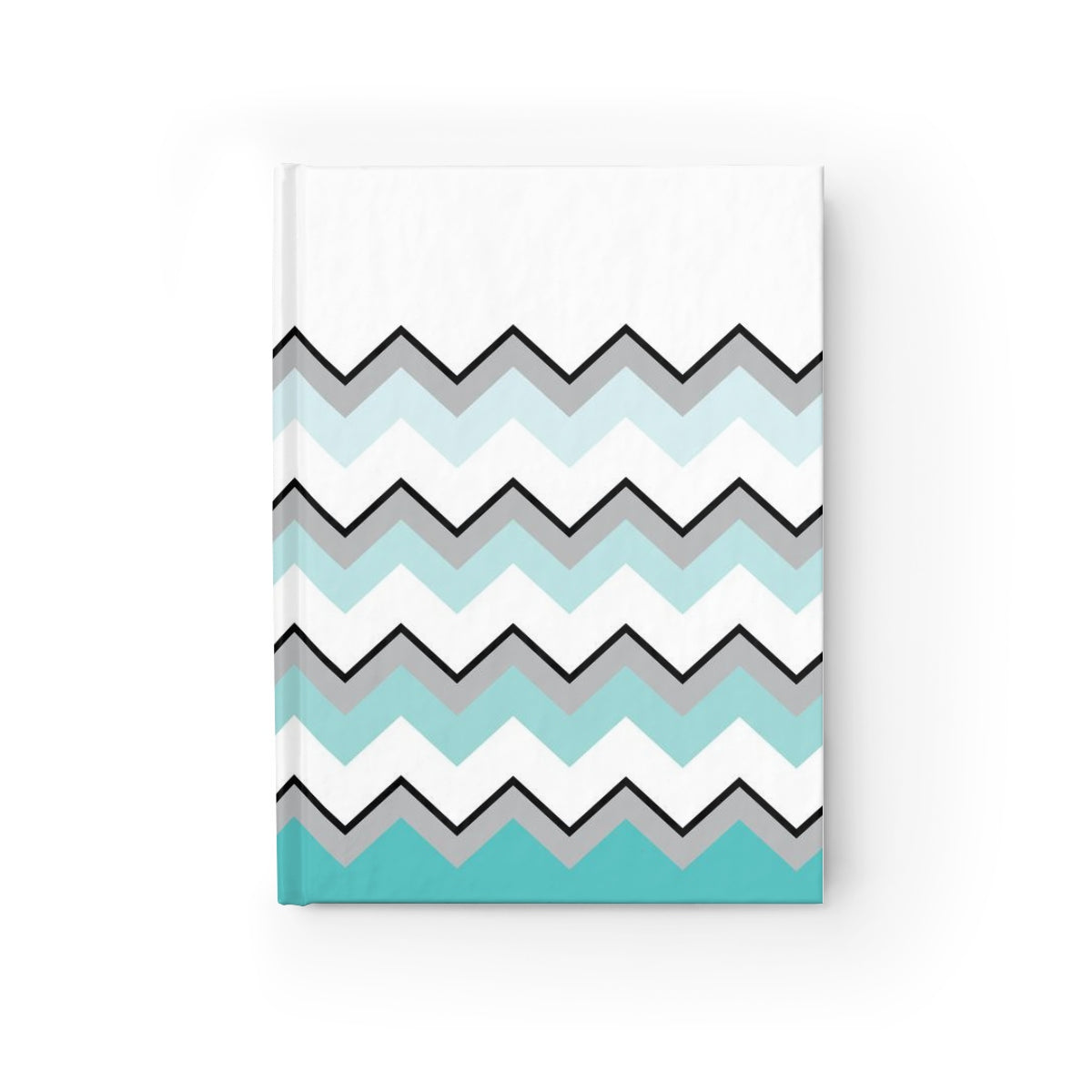 Ombre Teal Chevron Journal - Ruled Line