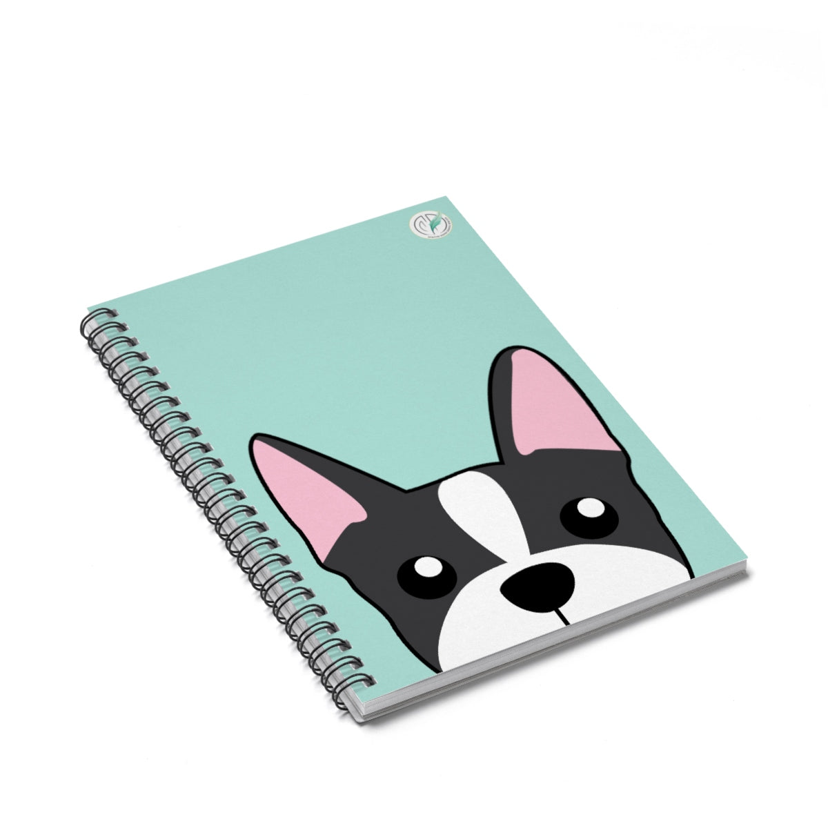 Boston Terrier Paw Prints Spiral Notebook - Ruled Line