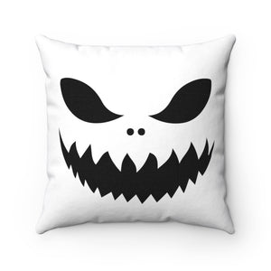 Black & White Trick or Treat Jack Spun Polyester Square Pillow Case