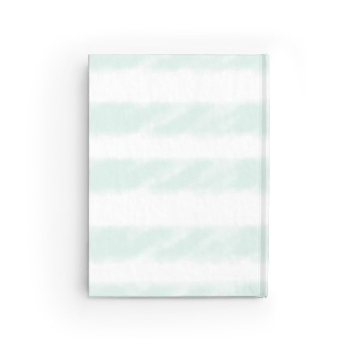 Mint Watercolor Stripe Journal - Ruled Line
