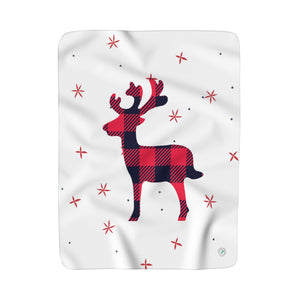 Holiday Deer Fleece Blanket