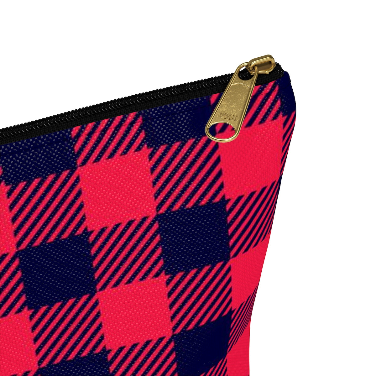 Holiday Plaid Accessory Pouch w T-bottom