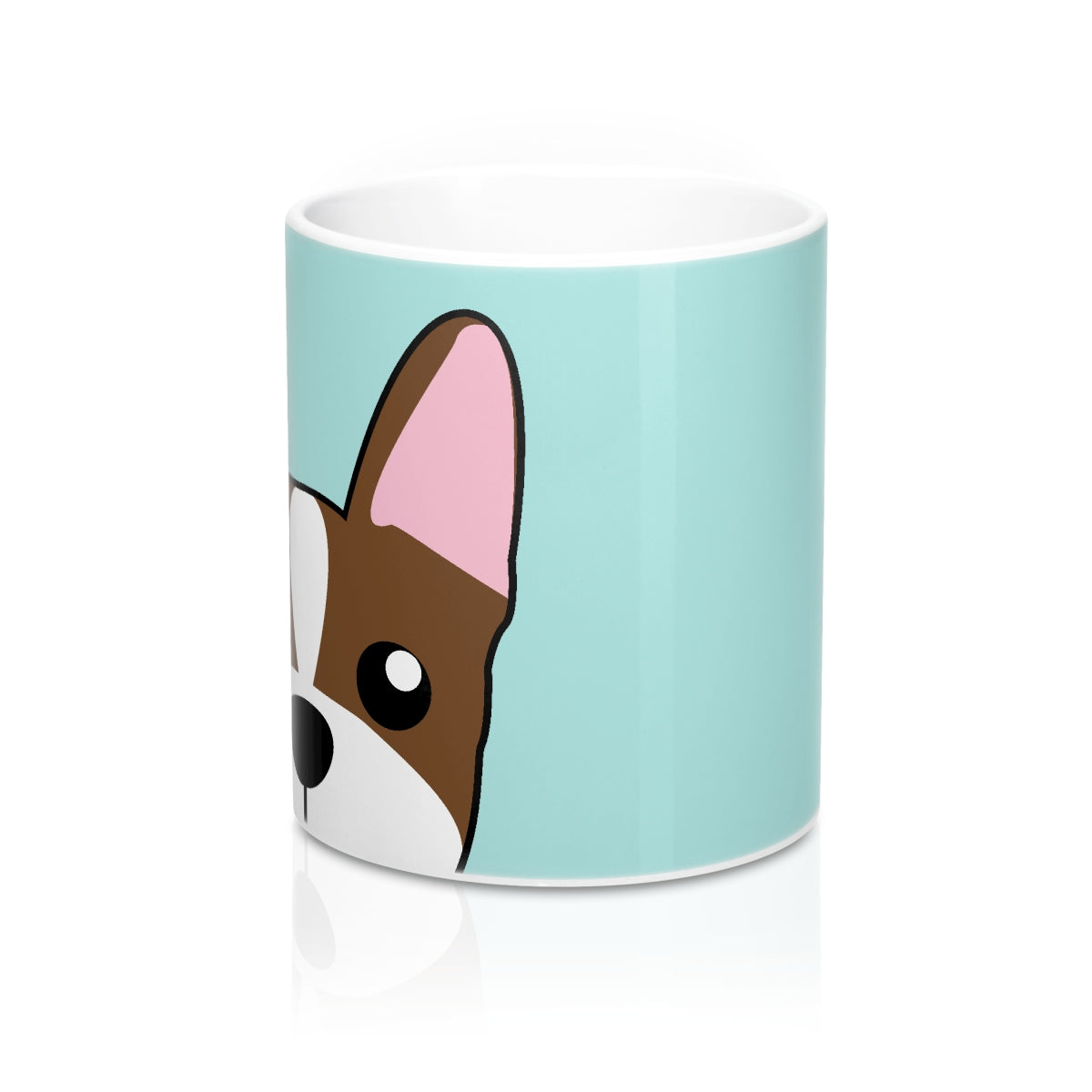 Paw Prints Boston Terrier Teal Mug 11oz