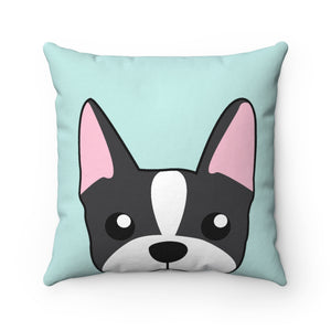 Paw Prints Boston Terrier Square Pillow Case