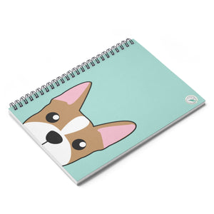 Frenchie Paw Prints Spiral Notebook - Ruled Line