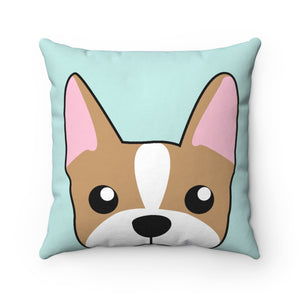 Paw Prints Frenchie Square Pillow Case