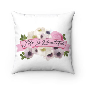 Watercolor Garden Spun Polyester Square Pillow