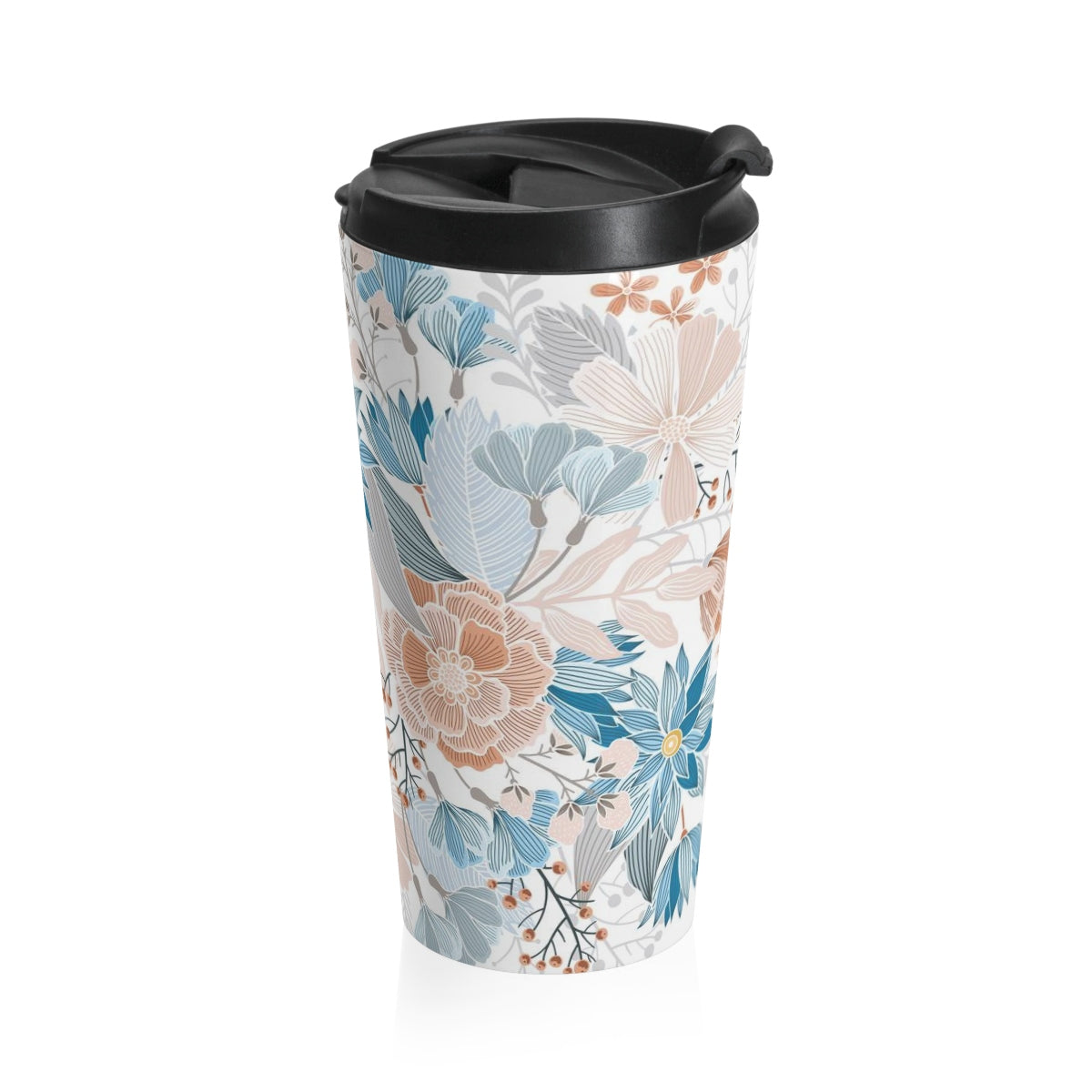 Natural Blooms Stainless Steel Travel Mug