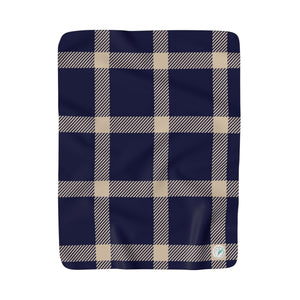 Holiday Blue Plaid Fleece Blanket