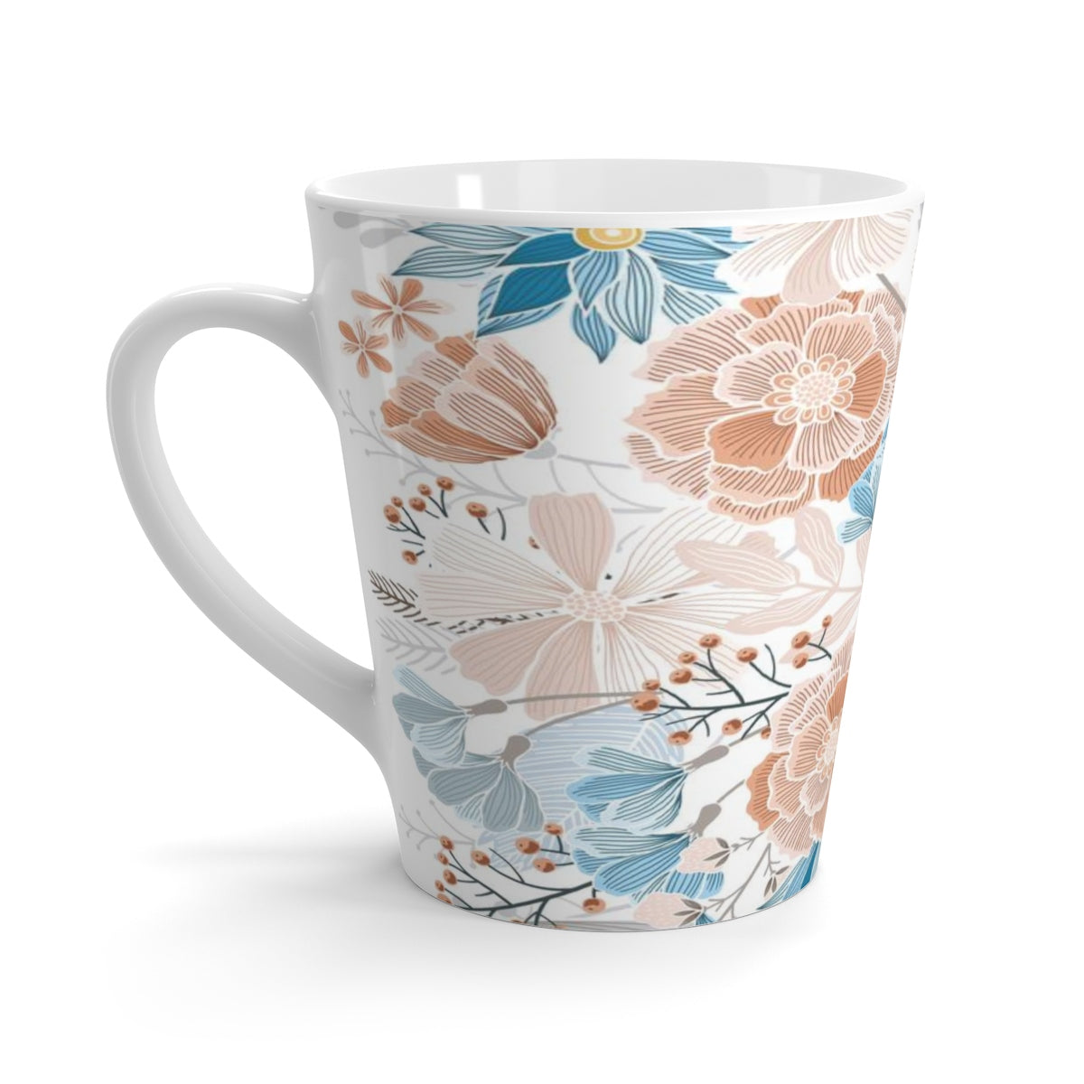 Natural Blooms Latte mug