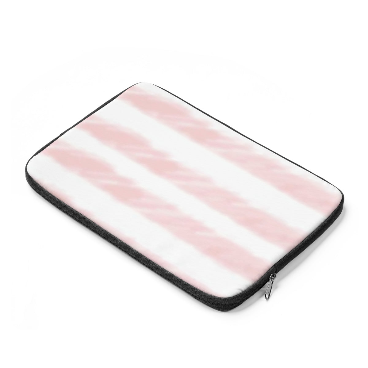 Pink Watercolor Stripe Laptop Sleeve