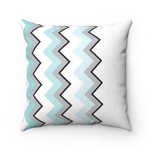 Ombre Teal Chevron II Square Pillow Case