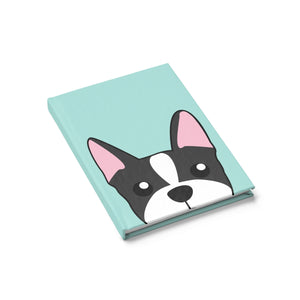 Boston Terrier Paw Prints Journal - Ruled Line