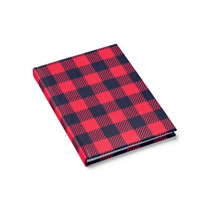 Holiday Plaid Journal - Ruled Line