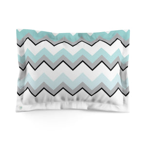 Ombre Teal Chevron Pillow Sham