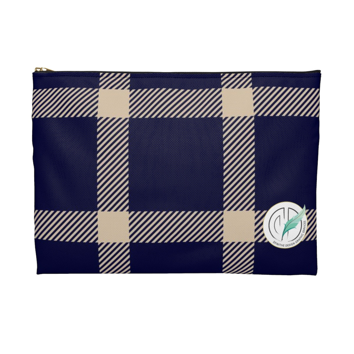 Holiday Blue Plaid Accessory Pouch