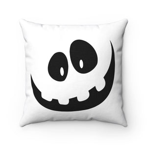 Black & White Trick or Treat Jon Spun Polyester Square Pillow Case