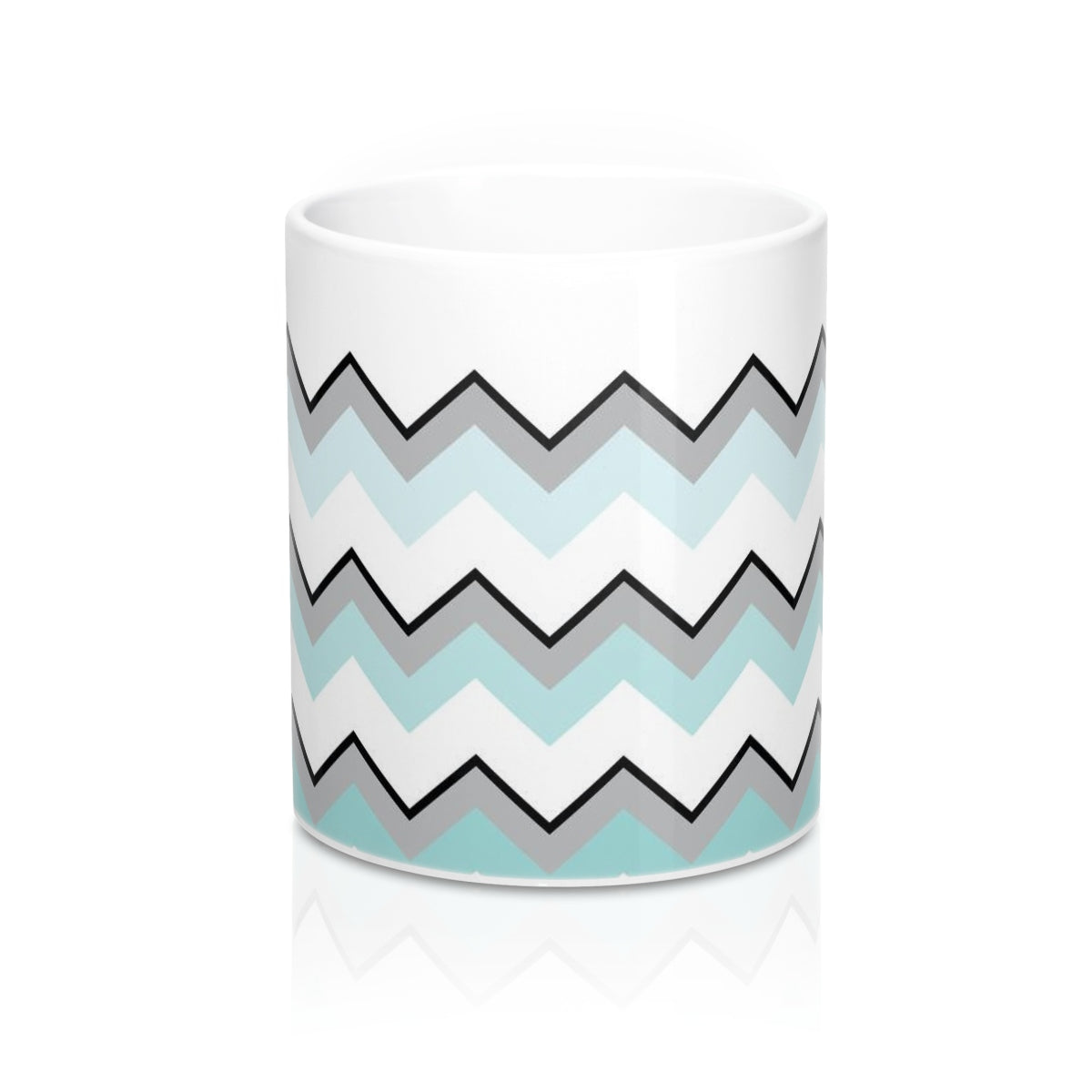 Ombre Teal Chevron Mug 11oz