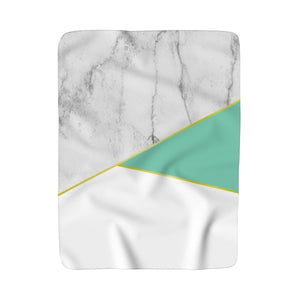 Mint & Marble Sherpa Fleece Blanket