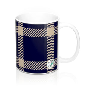 Holiday Blue Plaid Mug 11oz