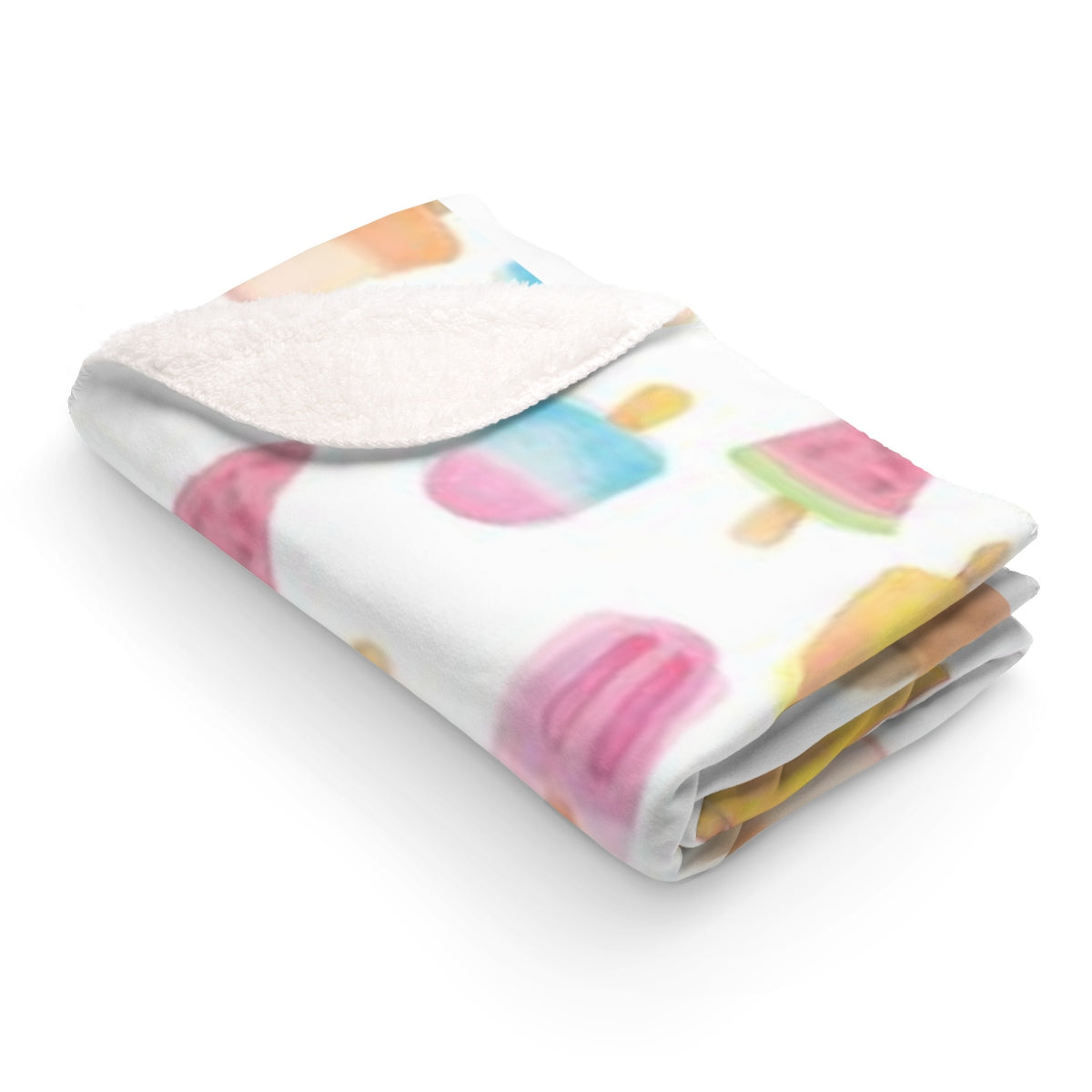 Sweet Summer Sherpa Fleece Blanket