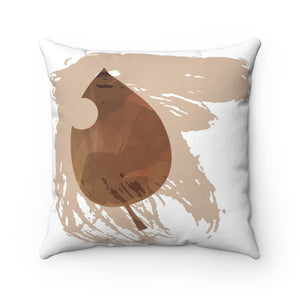 It's Fall Ya'll Brown Spun Polyester Square Pillow