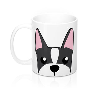 Paw Prints Boston Terrier White Mug 11oz