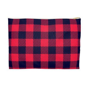 Holiday Plaid Accessory Pouch