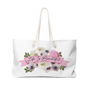 Watercolor Garden Weekender Bag