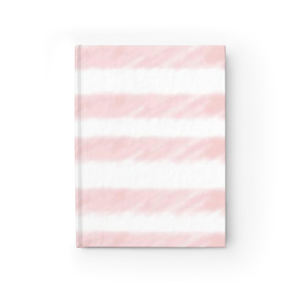 Pink Watercolor Stripes Journal - Ruled Line