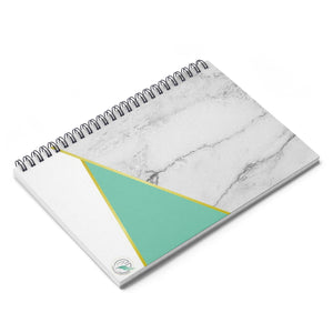 Mint & Marble Spiral Notebook - Ruled Line