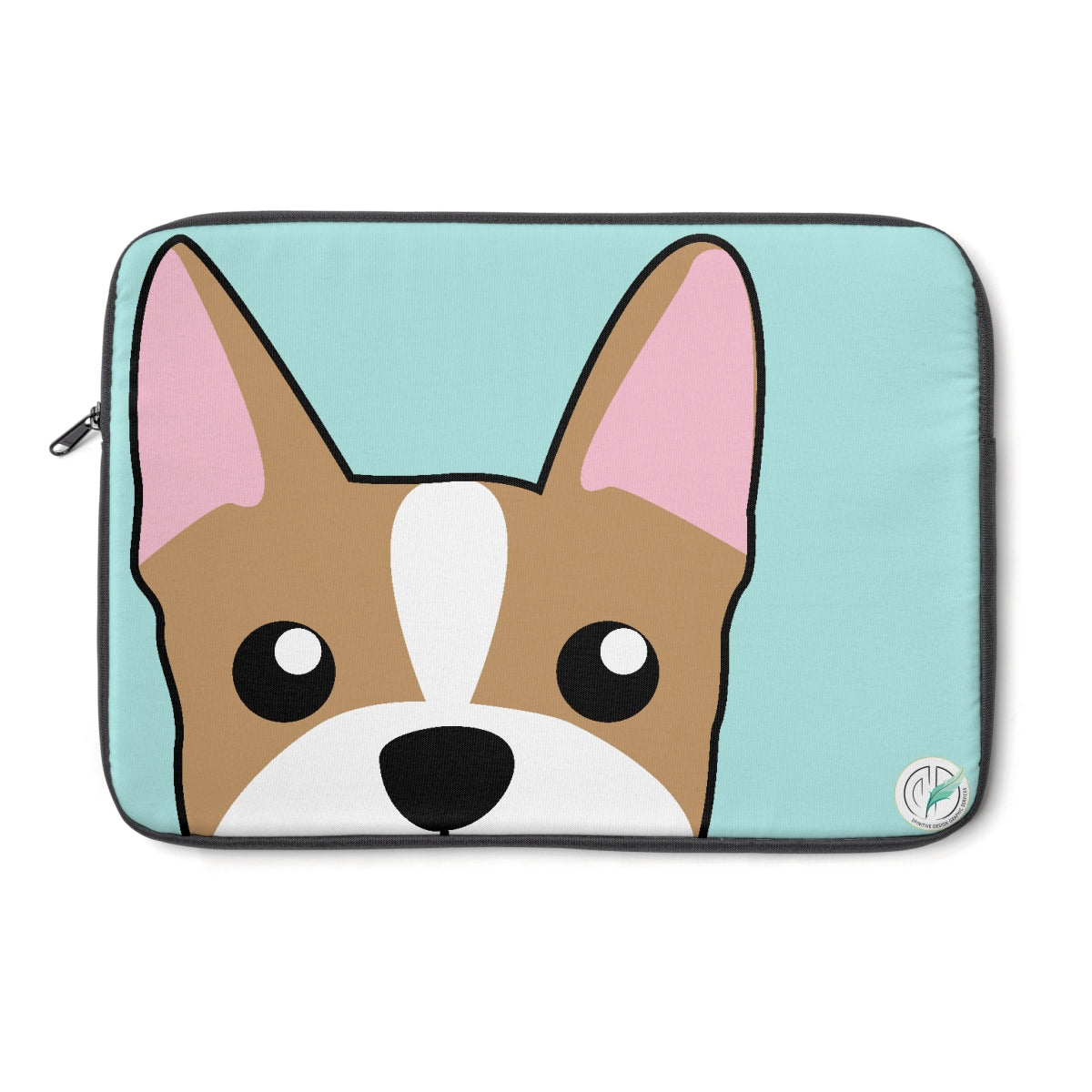 Frenchie Paw Prints Blue Laptop Sleeve