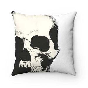 Trick Or Treat Skull II Spun Polyester Square Pillow Case