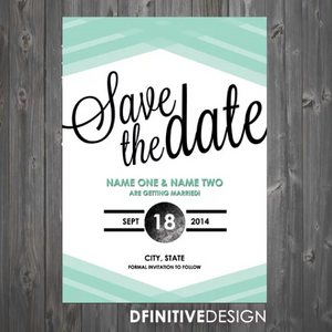 Modern Save The Date / Announcement
